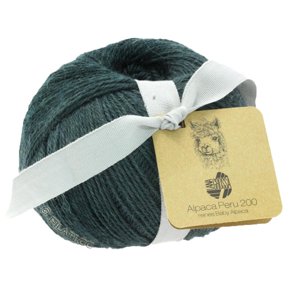 Laine Créatif Lana Grossa-alpaca Pérou 200-Fb 213 Vert Olive 50 g